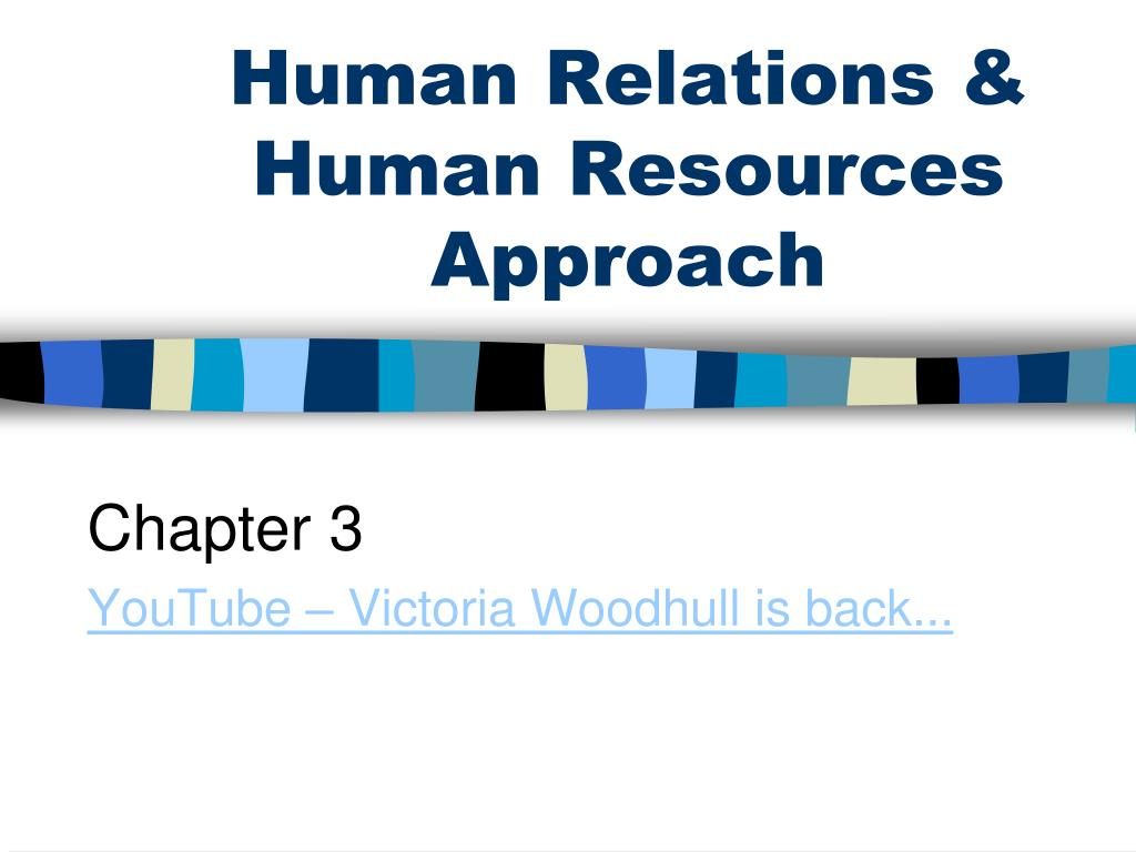 human relations human resources approach l.