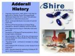 adderall history