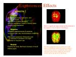 experienced effects