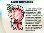 masfap achievements
