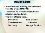 masfap is born