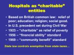 hospitals as charitable entities