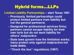 hybrid forms llps