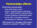 partnerships effects
