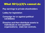 what 501 c 3 s cannot do