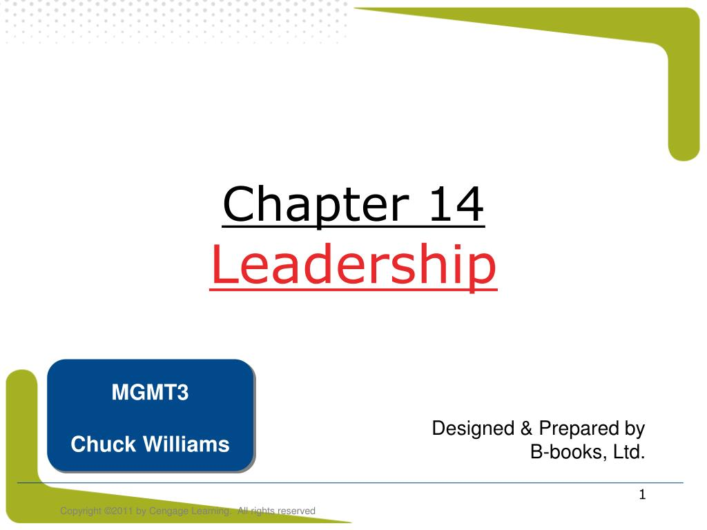 chapter 14 leadership l.