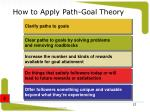 how to apply path goal theory