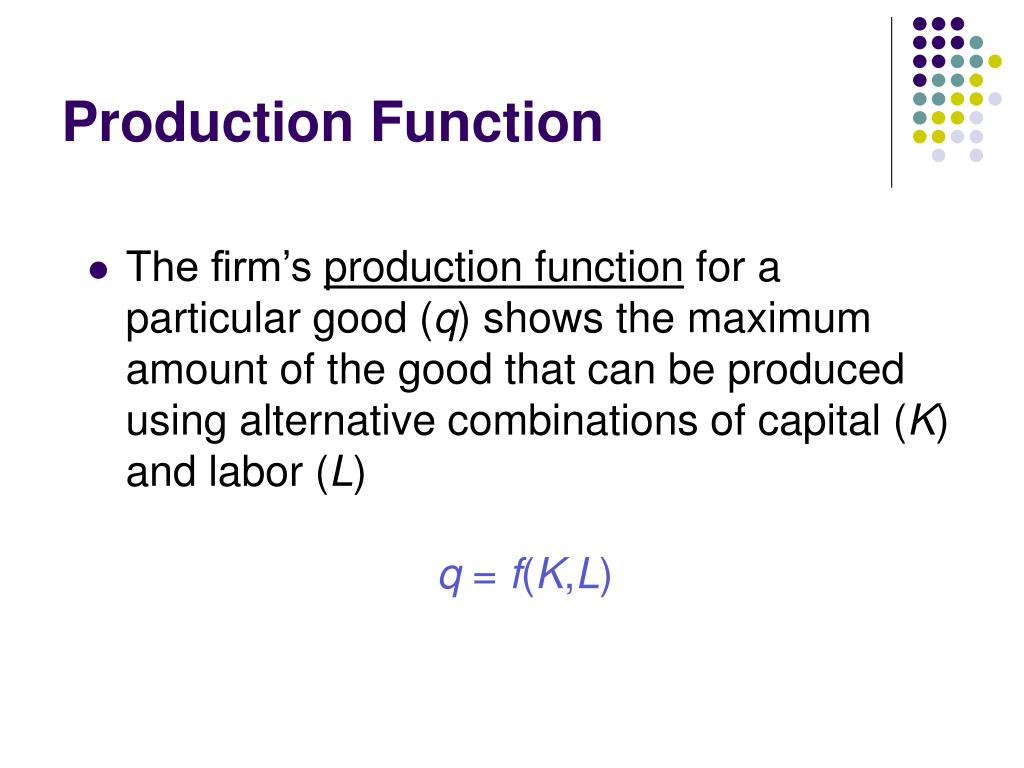 production function l.