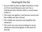hearing the ear