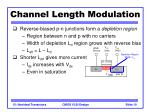 channel length modulation