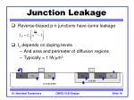 junction leakage