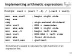 implementing arithmetic expressions130