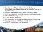 pnwer center for regional disaster resilience projects