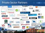 private sector partners