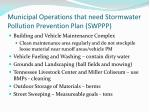 municipal operations that need stormwater pollution prevention plan swppp