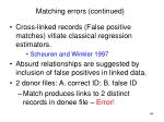 matching errors continued