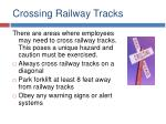 crossing railway tracks