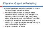 diesel or gasoline refueling