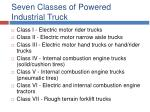seven classes of powered industrial truck