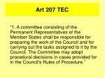 art 207 tec