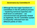 governance by committee iii