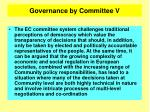 governance by committee v