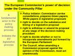 the european commission s power of decision under the community pillar