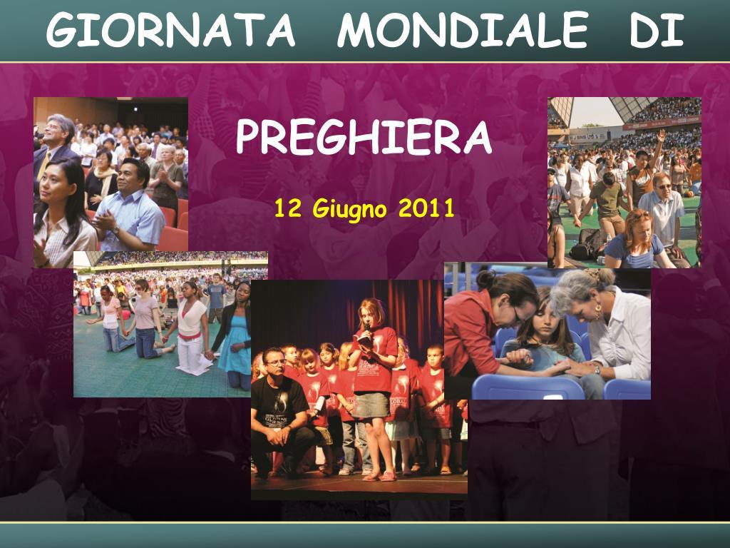 giornata mondiale di preghiera 12 giugno 2011 l.