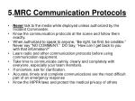 5 mrc communication protocols