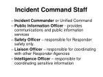 incident command staff