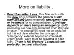 more on liability