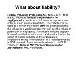 what about liability