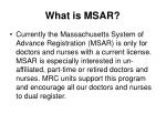 what is msar