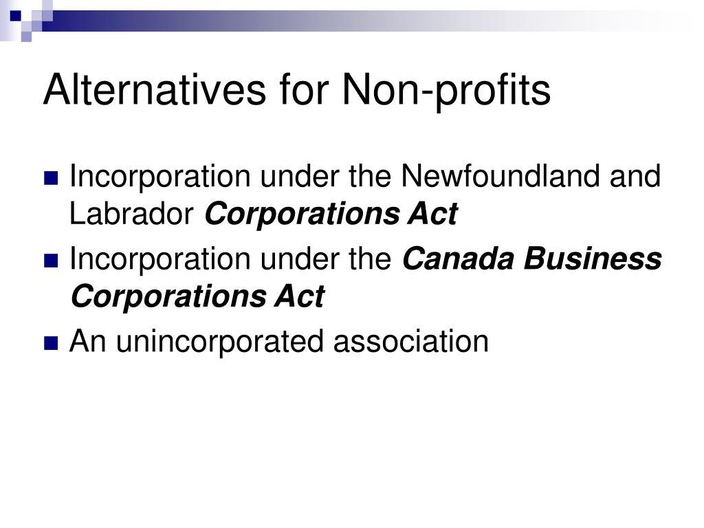Alternatives for Non-profits