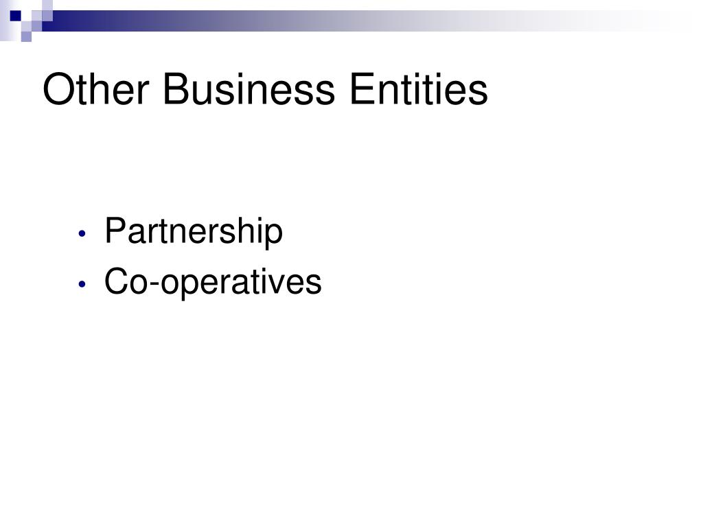 Other Business Entities