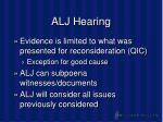 alj hearing