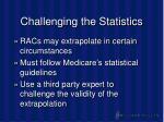 challenging the statistics