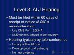 level 3 alj hearing
