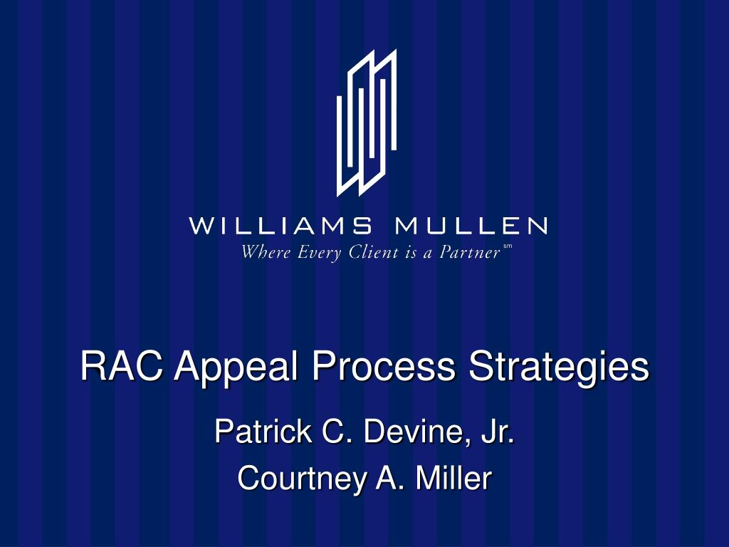 rac appeal process strategies l.