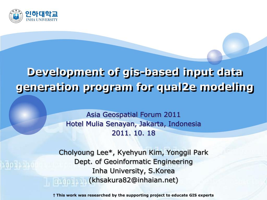 development of gis based input data generation program for qual2e modeling l.