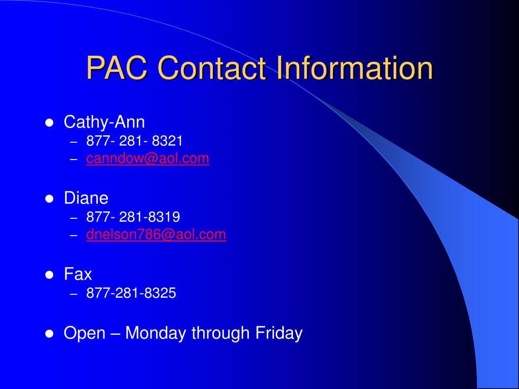 PAC Contact Information