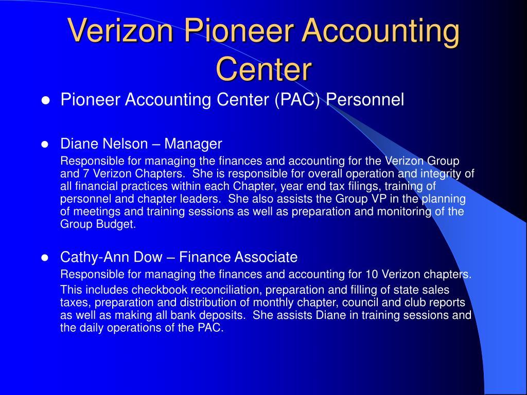 verizon pioneer accounting center l.