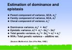 estimation of dominance and epistasis