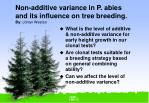non additive variance in p abies and its influence on tree breeding by johan weston