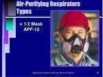 air purifying respirators types85