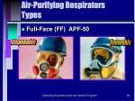 air purifying respirators types86