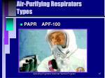air purifying respirators types87