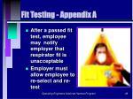 fit testing appendix a49