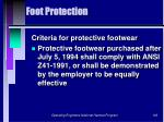 foot protection102