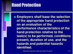 hand protection107